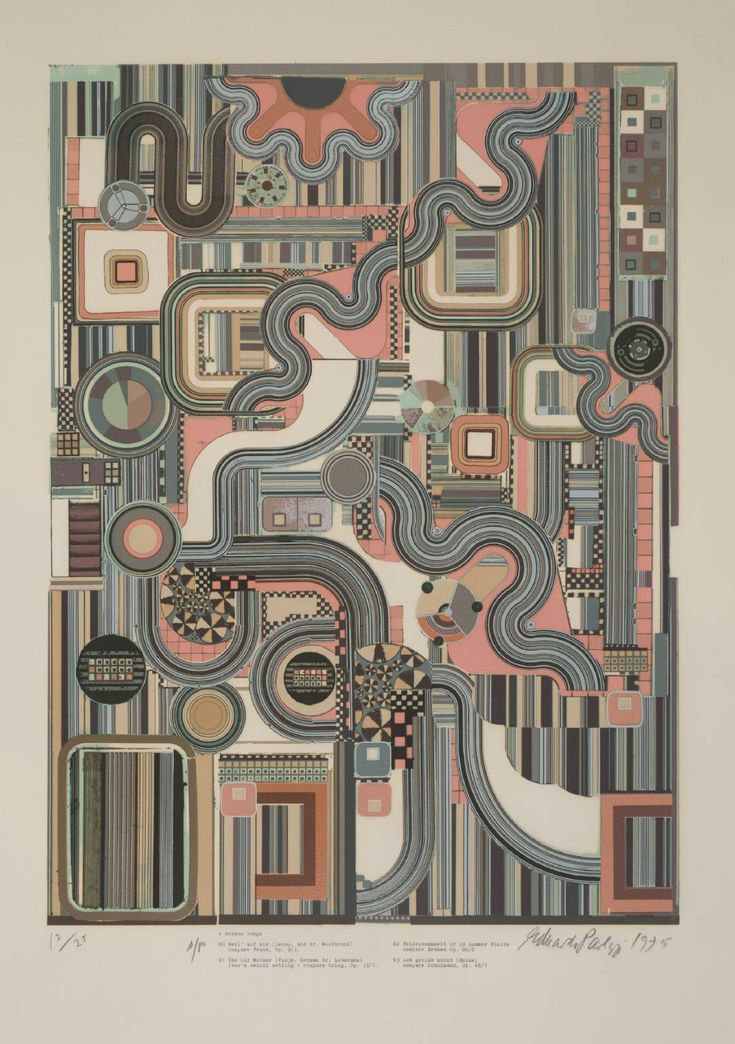 Sir Eduardo Paolozzi, 'Four German Songs' 1974-6