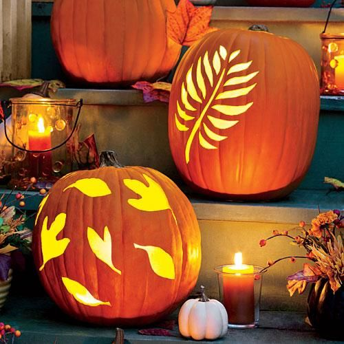 14 Easy Printable Pumpkin Carving Patterns | Print these fun pumpkin carving patterns to light up your walk, driveway, porch, or stairway this Halloween. | SouthernLiving.com