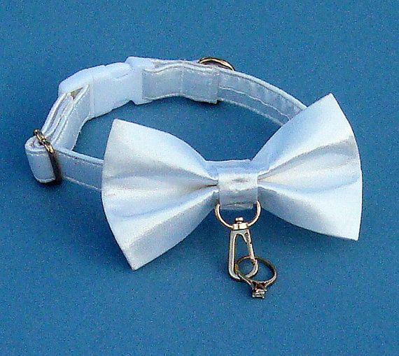 Ring Bearer Wedding Dog Collar by HappyTailsDogCompany on Etsy