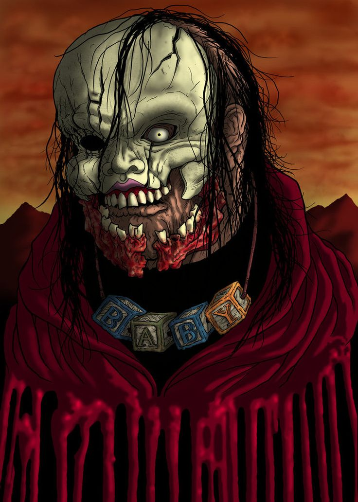 The Hills Run Red #BabyFace #Horror #HorrorArt #Poster