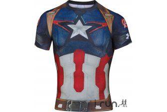 Under Armour Tee-shirt Compression Alter Ego Captain America M pas cher - Vêtements homme Under Armour running Tee-shirt Compression Alter Ego Captain America M en promo