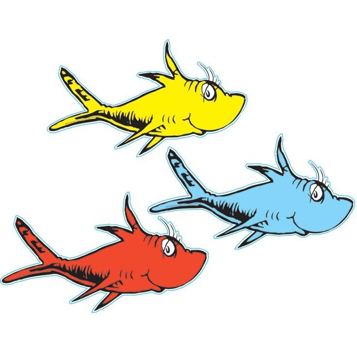 Dr. Seuss 1 Fish 2 Fish Cutouts