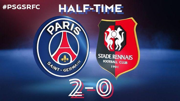 Mi-temps entre le Paris Saint-Germain et le Stade Rennais FC ! Paris mène 2 buts à 0 !