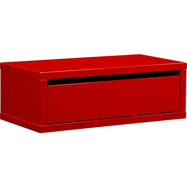CUTE And FUNCTIONAL Red Wall Mounted Storage! You Could Stack These Above A  Bed Or. Storage ShelvesWall ...