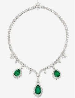 Exclusive Zambian Emerald Diamond Necklace