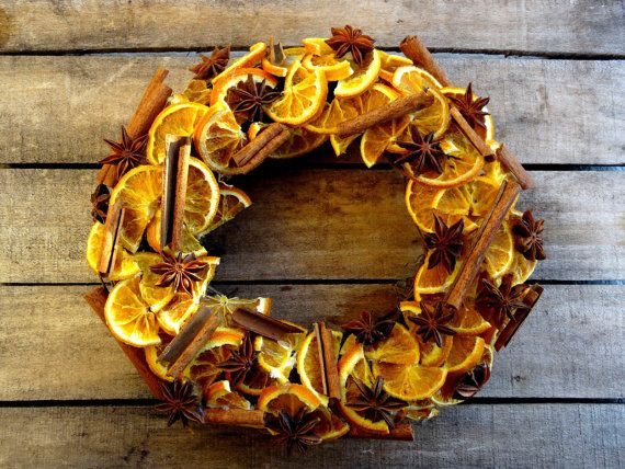 This beautiful fall wreath includes dried materials like dried orange slices, cinamon sticks and star anise.    This wreath will last a long time if kept and out of sunlight and humidity.    Measures: 10    Thank you so much for stopping by!    SteliosArt