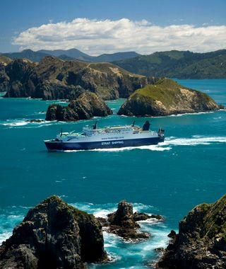 Crossing The Cook Strait between North and South Islands, New Zealand