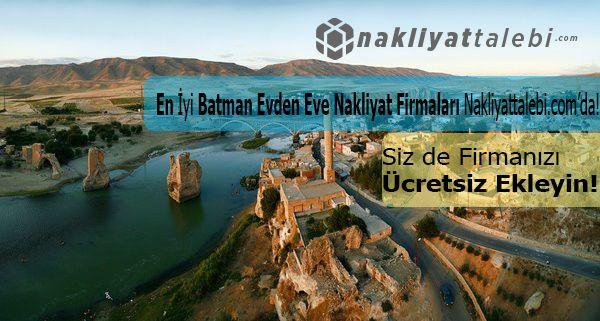 Taşınmanın en kolay adresi Batman evden eve nakliyat sayfamızda. http://www.nakliyattalebi.com/firmalar/batman.html