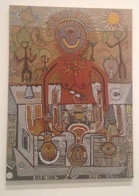 Dreamtime to Machinetime by the late Trevor Nickolls is one of the seminal artworks ever produced in Australia. This work fits in an Indigenous Studies, History and Art classroom.