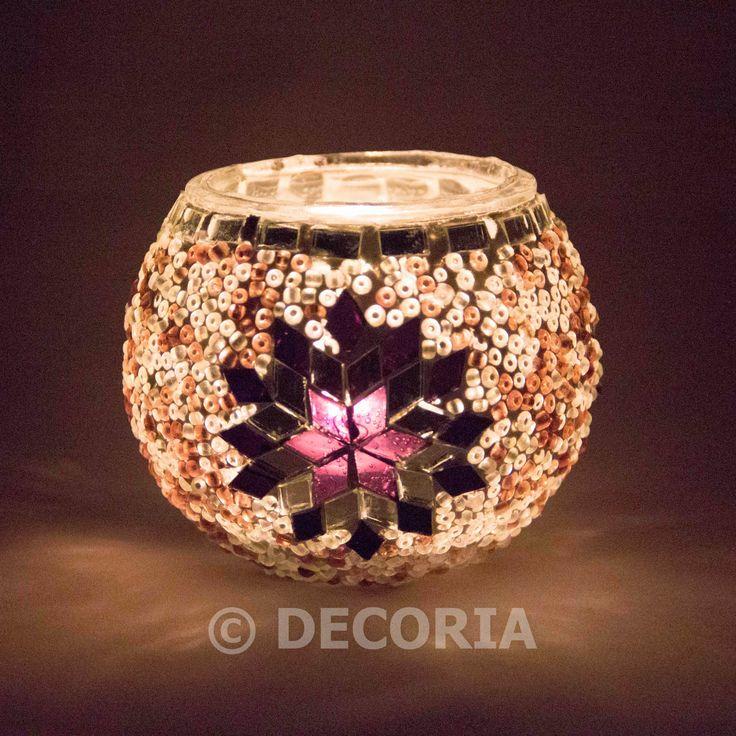 Candle Holder - Purple - DECORIA HOME & GIFT