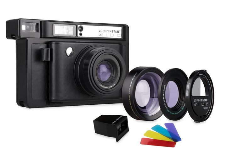 Lomography Lomo'Instant Wide Black + kit Lenti Fotocamera istantanea formato Wide