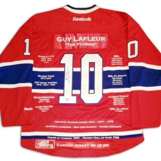 Guy Lafleur career jersey Ltd Ed 299