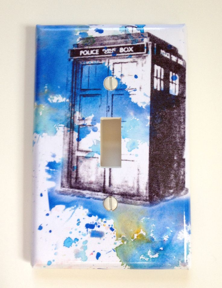 23 best images about our bedroom on pinterest dr who for Tardis light switch cover