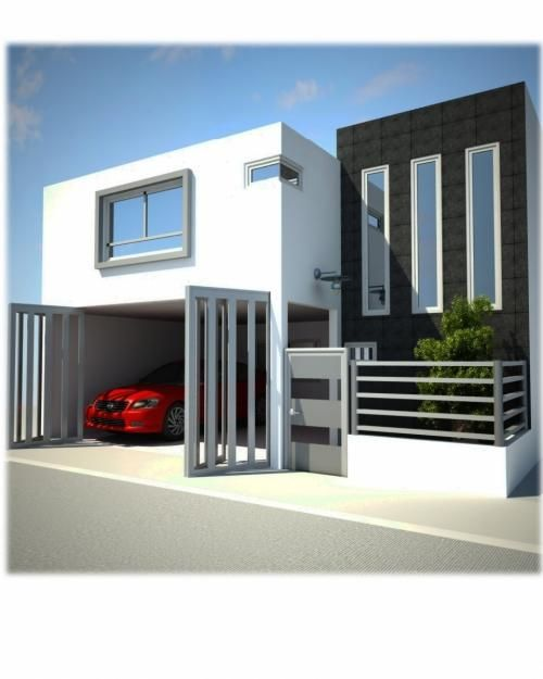 Fachadas de casas modernas: Fachada contemporánea y semi minimalista