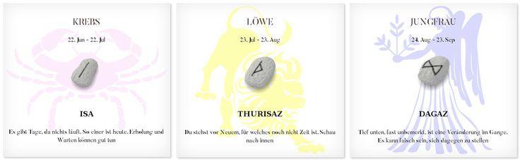 Runen Tageshoroskop 5.3.2017 #Sternzeichen #Runen #Horoskope #krebs #löwe #jungfrau