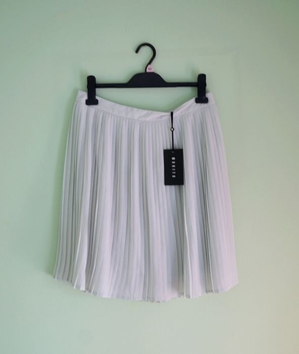 Mohito: Miętowa rozkloszowana plisowana spódniczka mini midi - vinted.pl