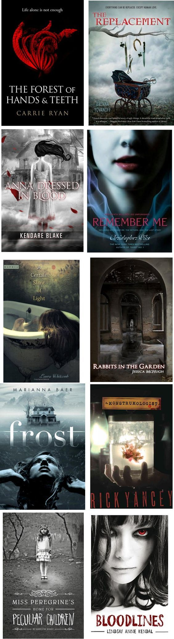 Good scary/creepy books: have read a few that were really good, may try the rest