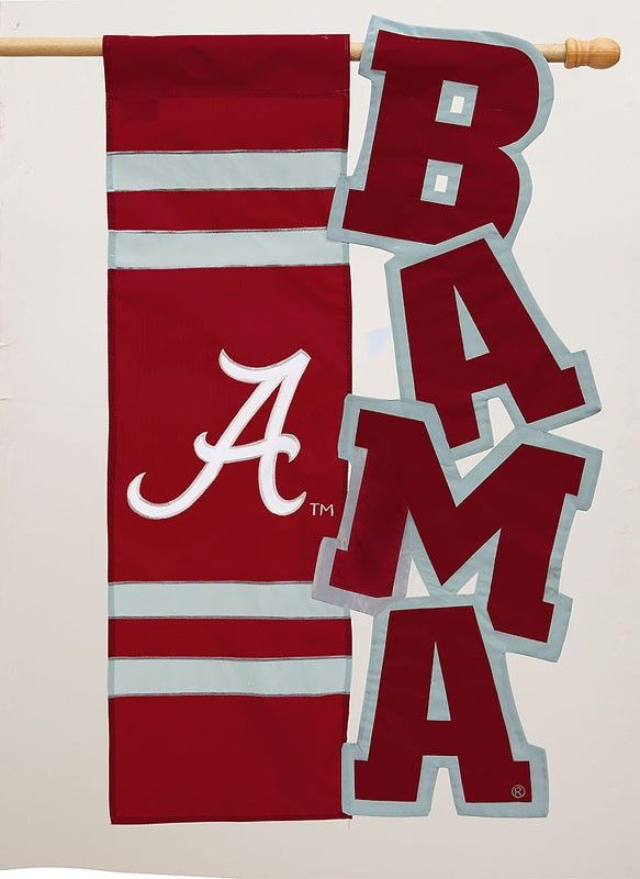 High Quality University Of Alabama Regular Sized Applique Flag Need This For The House!