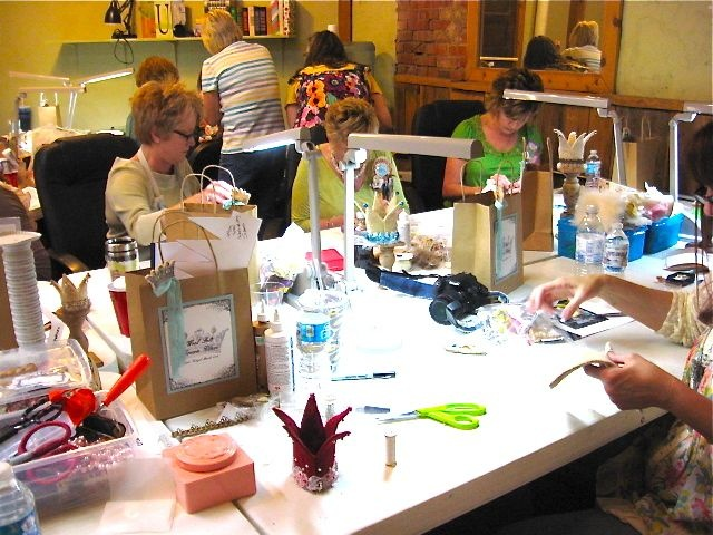 paper cowgirl altered art retreat gallery retreat ideasfundraising