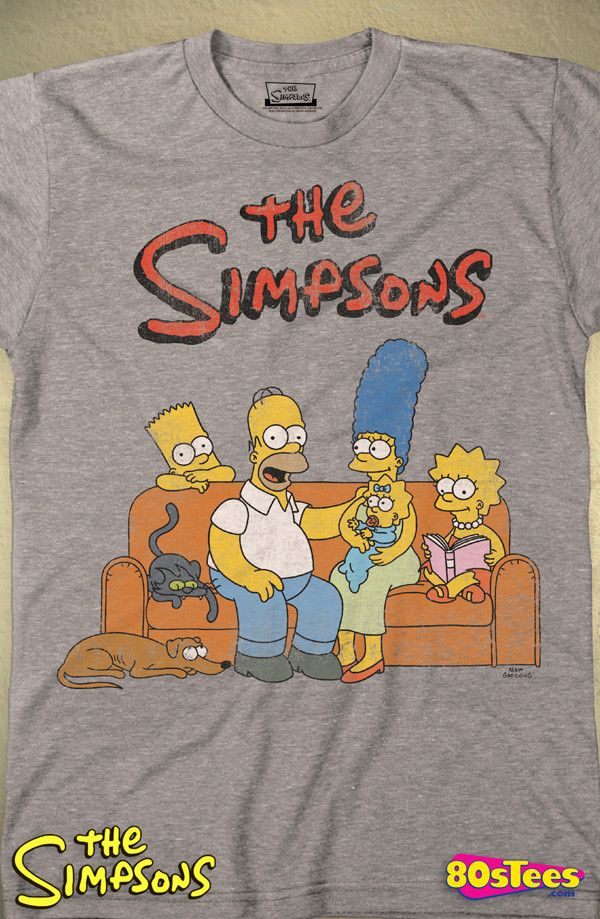 The Simpsons Family Portrait T-Shirt: Simpsons Mens T-Shirt