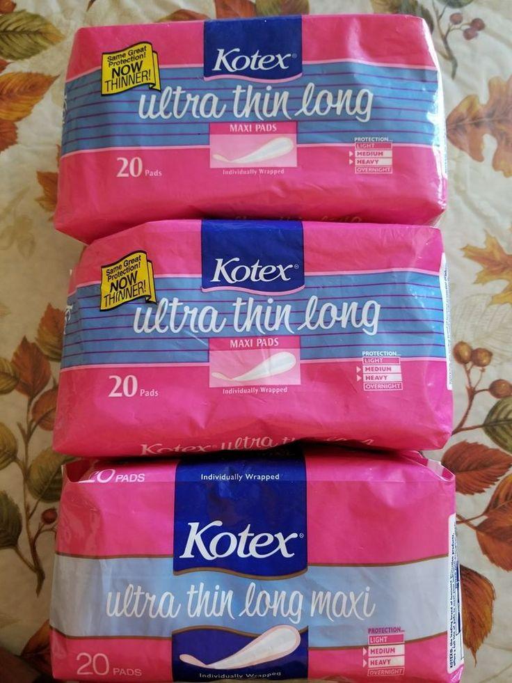 Kotex Ultra Thin Long Maxi Pads -Vintage 1980's #Kotex
