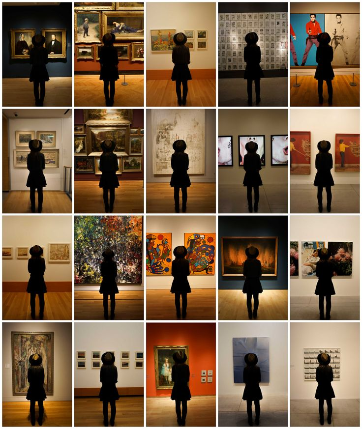Art museum silhouette typology. Photograph by Adrian Amariucai.
