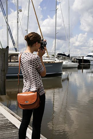 """Lo & Sons """"The Claremont"""" camera bag/purse. After a long search for a camera bag that is practical enough for every day use I finally find this one. Price is reasonable and the company is owned by a mother and her two sons - a great story to check out!"""