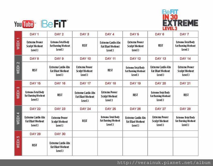 30 de zi fat burn befit calendar pierde în greutate fast belly fat