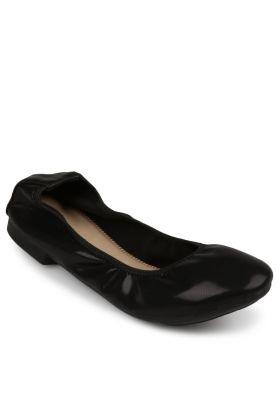 Noche Black flat shoes
