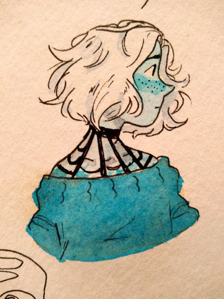 I've been drawing a lot lately and i'm really happy about that!!! ((Also I might change the design/colors and make it a gemsona))
