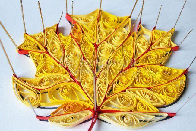 Осенние поделки из бумаги лист