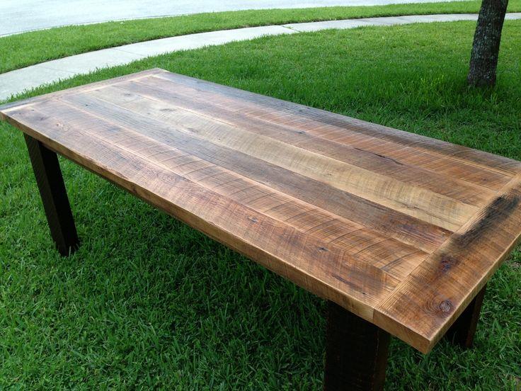 Superb Reclaimed Oak Dining Table
