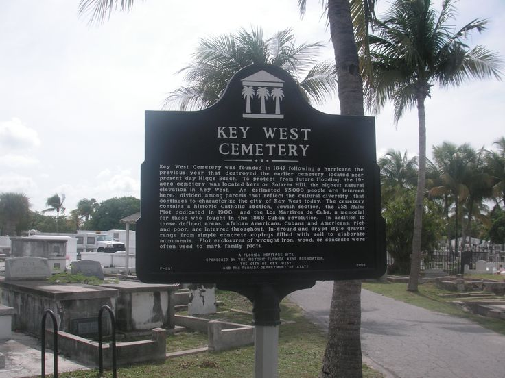 Key West City Cemetery -- my most favorite tourist stop in KW and inspiration for a short story