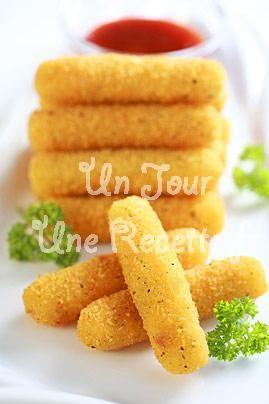Bâtonnets de mozzarella frits, la recette facile et rapide