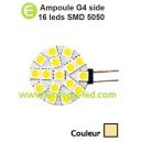 Ampoule 12/24V G4 Side 16 Leds SMD 5050 Blanc chaud
