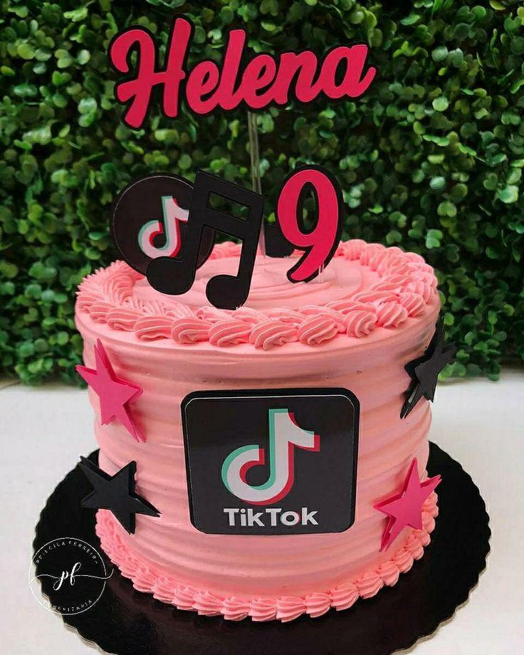 Pastel Tik Tok in 2020   Unicorn birthday cake, Cute ...   Tiktok 10th Birthday Cake