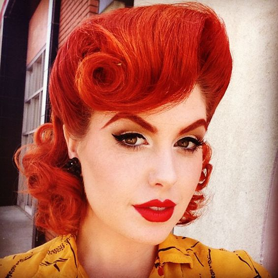 799 best rockabilly pin up hair and makeup images on pinterest retro glam pin up girl hairstyles vintage hair and makeup retro hair urmus Gallery