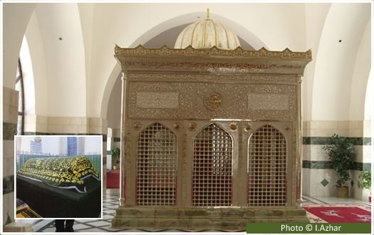 Tomb of Jafar-bin-Abi Talib (may Allah be pleased with him) This is the tomb of Jafar-bin-Abi Talib (may Allah be pleased with him), the second amir appointed by the Prophet (peace and blessings of Allah be on him) to lead the Muslim army in the battle of Mu'ta.