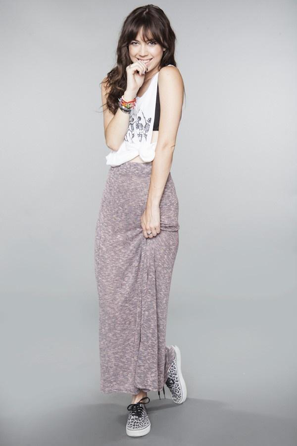 Pink and gray maxi skirtPink And Gray, Gray Maxis Skirts, Maxi Skirts