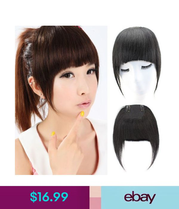 Hair Extensions & Wigs Clip In Hair Bangs Side Fringe Straight 100% Virgin Remy Human Hair Extensions #ebay #Fashion