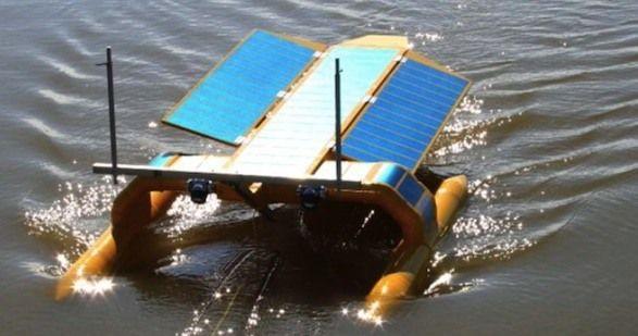 The SeaVax isasolar- andwind-powered shipthat can suck upplastic waste.The inventorsat Bluebird Marine Systems LTD unveiled their proof of