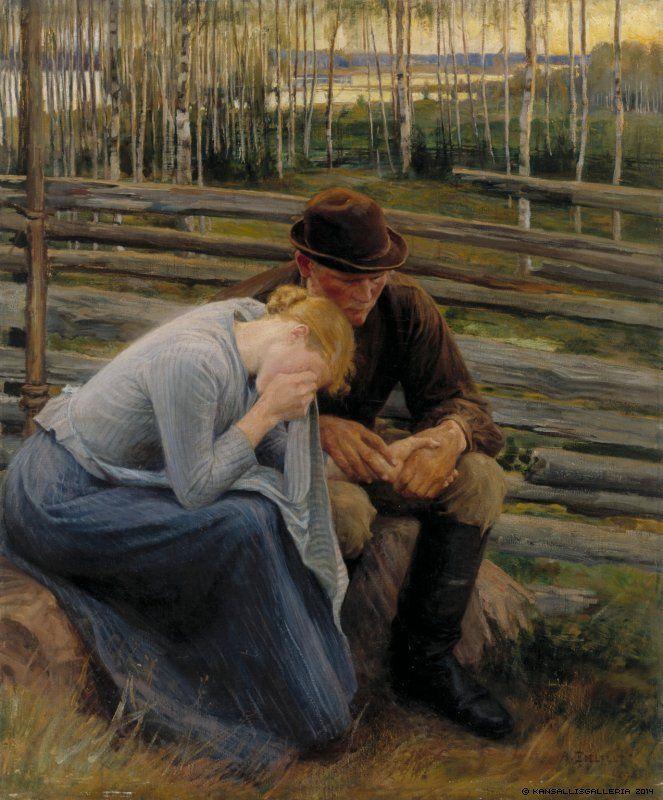 Albert Edelfelt (1854-1905) Suru / Sorrow 1894 - Finland