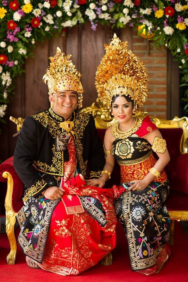 Balinese Wedding Dress Painting Bali Fashion Traditional Dresses Outfits