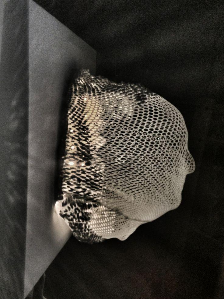 Dino e Lina - scultura interattiva su tela con led e specchi. - Autore: Guido Fruscoloni - 2013