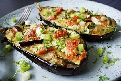 een heerlijk licht recept uit de Airfryer met aubergine