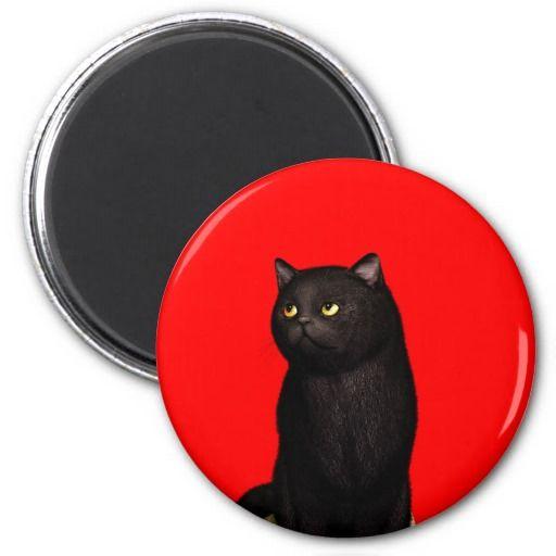 Black Cat 2 Magnets