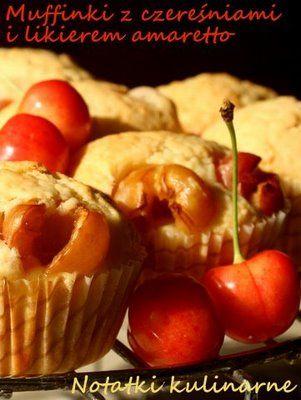 Muffinki z czereśniami i amaretto