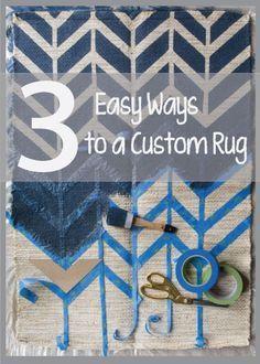3 Easy Ways Paint A Rug