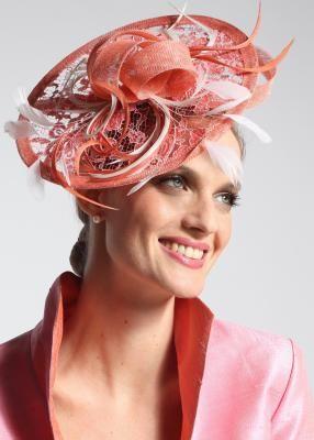 AA-Chapeau Mona Lisa Tangerine Fascinator Hats 5cd7aa521c2
