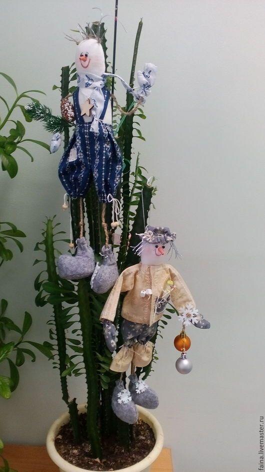 Снеговики: текстильная игрушка, новый год, ручная работа,  сделано своими руками
